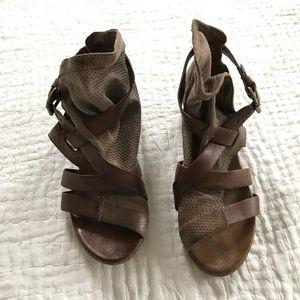 Miz Mooz Leather Boho Bootie Sandal